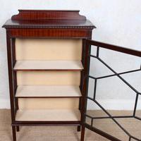 Glazed Bookcase Edwardian Astragal Display Cabinet Mahogany (8 of 11)