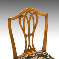Very Good Set of Six George III Period Hepplewhite Mahogany Framed Single Chairs (4 of 7)