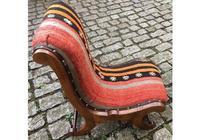Kilim Covered Slipper Chair (3 of 6)