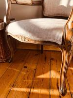 French Antique Chairs / French Salon Armchairs / Pair of Louis XV Chairs / Fauteuils (6 of 10)