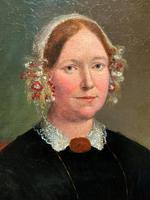 Fine Large Period 19th Century half-length Oil Portrait Painting of a Victorian Lady (7 of 12)
