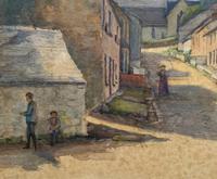 Large Original Edwardian Antique Yorkshire Hamlet Landscape Watercolour Painting (8 of 13)