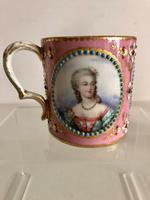 French Sevres Porcelain Cup Portraits of Louis XV & Mistresses, Circa 1760 (4 of 8)