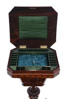 Victorian C1860 Rosewood Gothic Work Side Sewing Table Box (2 of 11)