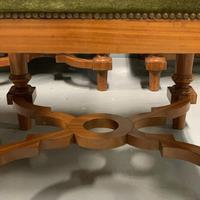 Set of 6 satinwood modular stools in vintage velvet (2 of 8)
