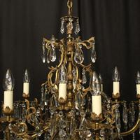 French 12 Light Gilded Bronze Antique Chandelier (9 of 10)