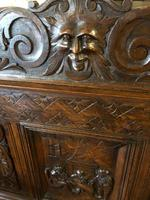 Victorian Antique Green Man Carved Oak Settle / Hall Seat / Monks Bench (9 of 10)