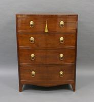 Small Regency Bow-fronted Chest of Drawers (5 of 6)