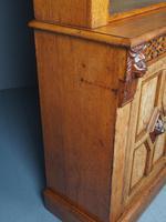 Antique Victorian Golden Oak Open Bookcase (19 of 20)
