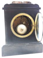 Antique French Slate & Marble Mantel Clock striking 8 day Mantle Clock (8 of 8)