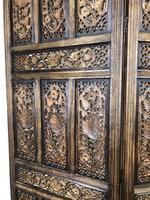 Vintage Indian Hardwood Three Panel Screen Room Divider (m-1806) (7 of 10)