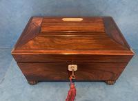 Regency Sarcophagus Rosewood Jewellery Box (3 of 15)