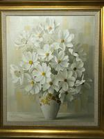 20th Century Oil Painting Still Life Bouquet Flowers Listed Elizabeth Rouviere (8 of 26)
