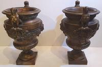 Rare Pair of 19th Century Bronze Planters / Urns (2 of 7)