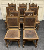 Set of 10 French Walnut Dining Chairs (2 of 15)