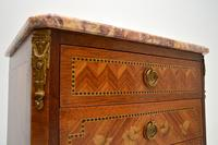 Pair of Antique French Inlaid Marble Top Bedside Chests (5 of 12)