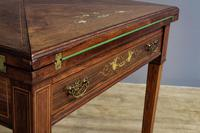 Late Victorian Envelope Card Table (4 of 9)