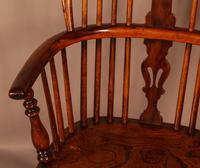Good High Back Windsor Chair c.1840 (6 of 11)