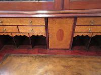 Fine George III Period Flame Mahogany Bureau Bookcase (7 of 9)