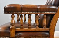 Pair of Victorian Hand Dyed Leather Library Chairs (3 of 13)