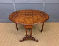 Large Victorian Burr Walnut Sutherland Table (13 of 16)