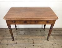 Victorian Mahogany Two Drawer Side Table (2 of 9)