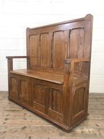 Rustic Pitch Pine Settle Bench (6 of 8)