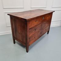 Early Primitive French Walnut Chest Commode c.1800 (3 of 8)