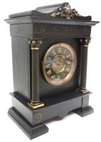 Amazing French Slate 8 Day Striking Heavy Quality Mantle Clock (4 of 12)