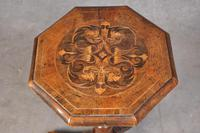Rare 17th Century Walnut & Marquetry Candle Stand (9 of 9)