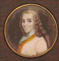 Miniature Portrait of Voltaire 2 of 2 Matching Oak Frames (2 of 3)