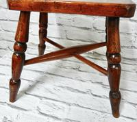 Small Elm Country Stool (3 of 6)