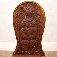 Carved Oak Eagle Chair (4 of 9)