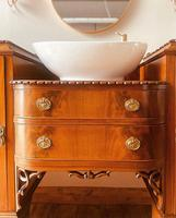 French Antique Style Washstand / Vanity / Cupboard With Basin Sink (4 of 8)