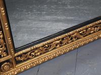 Antique Gilded & Ebonised Rectangular Wall Mirror (8 of 14)