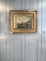 Antique Victorian marine seascape oil painting (1 of 2) (10 of 10)