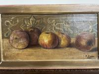 L.H Cooper Signed Fruit Oil Painting (2 of 6)