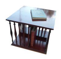 Edwardian Mahogany Table Top Revolving Bookcase