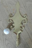 """Fine Large 19th Century West Country Brass Friendly Society Tip Staff Society Staff Head 13"""" (3 of 6)"""