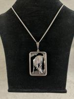 Danish Silver Pendant with Grazing Stag 1940s (4 of 5)