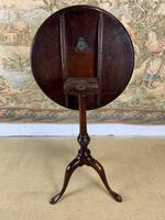 Small Georgian Mahogany Tilt Top Lamp Table (4 of 6)