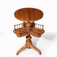 Victorian Walnut Revolving Book Table (5 of 5)