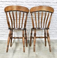 Pair of Windsor Lath Back Chairs (5 of 6)
