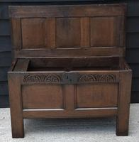 Handsome 17th Century Small Proportioned Oak Coffer/ Chest c.1680 (13 of 14)