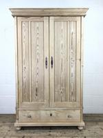 Antique Pine Two Door Wardrobe with Drawer (2 of 10)