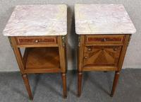 Pair of French Inlaid Mahogany Bedside Cupboards / Night Stands (6 of 14)