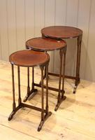 Circular Mahogany Nest of Three Tables (4 of 9)