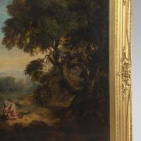 Early 19th Century Large Oil on Canvas of Mother and Children (4 of 4)
