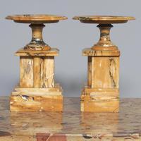 Sienna Marble Clock Garniture (6 of 6)