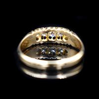 Antique Edwardian Old Cut Diamond Five Stone 18K Gold Ring (4 of 10)
